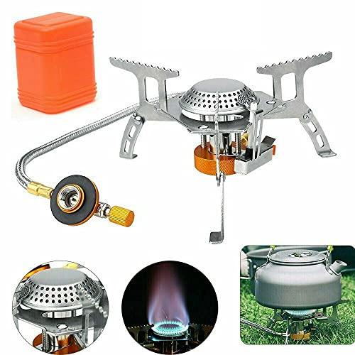 3500 W portátil camping estufa de gas mini picnic al aire libre estufa de gas ultraligero acero quemador para camping senderismo cocina