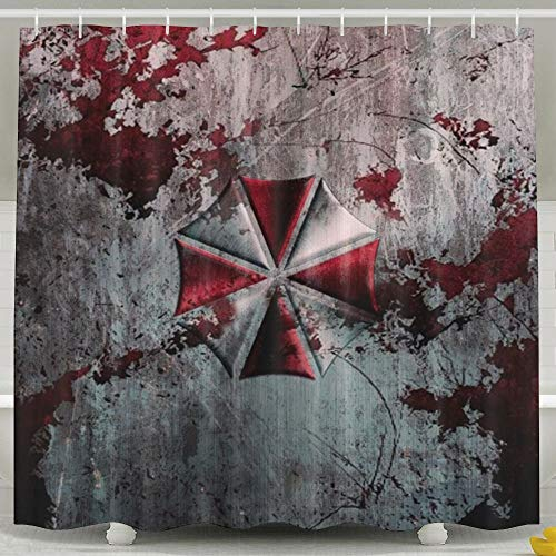 Setyserytu Duschvorhänge/Badvorhänge, Corporation Evil Resident Umbrella Non Toxic Bathroom Curtains