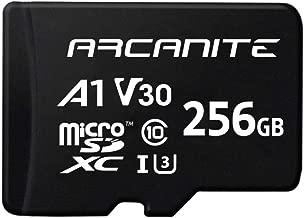 ARCANITE AKV30A1256  - Tarjeta de memoria microSDXC de 256 GB con adaptador, UHS-I U3, A1, V30, 4K, Clase 10, Micro SD