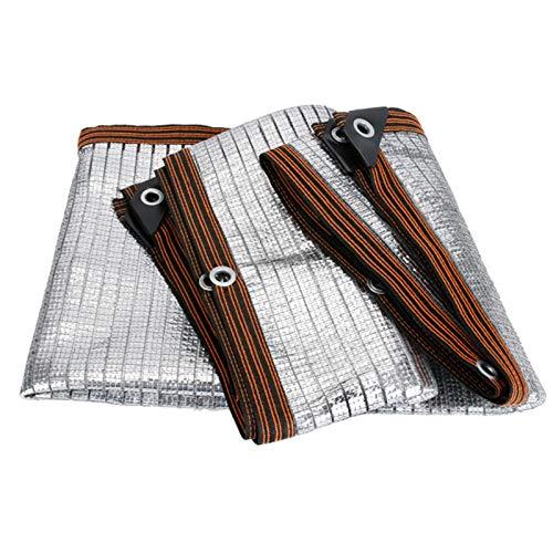 Gartensichtschutz Sonnenschutznetz Dach Reflektierendes Aluminet Schattentuch, 75% Sonnencreme Silber Wärmeisolationsnetz mit Metalltüllen, Einfach Einzurichten Sommerplane (Size : 1m×1m)