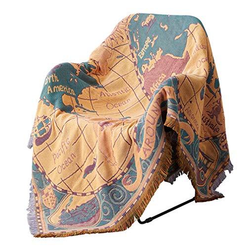 1 Stück Böhmische Tagesdecke Gestrickte Decke Baumwolle Geflochtene Boho-Decken 130 * 180 cm / 180 * 220 cm / 230 * 250 cm für Couch Sofa Stuhl Bett Raumdekoration