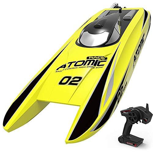 KRCT 45 mph ad Alta velocità Brushless Telecomando Barca Forte Cavalli Concorrenza Professionale RC Speed Boat 2.4GHz Radio Control Yacht Giocattolo 11.1V 2600mAh Batteria Ricaricabile