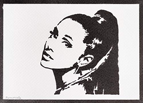 Poster Ariana Grande Grafiti Hecho a Mano - Handmade Street Art - Artwork