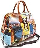 SARTH SHOPOBOX Women's Polyester Printed Hobo Bag Hand Bag, Shopping Mall Shoulder Luggage Bag (Multicolored)