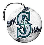 Round Baseball Shaped Auto Air Freshener Features Long Lasting Vanilla Scent Decorated with Team Colored Logo Comes in a 3-Pack Set, Includes Elastic String for Easy Hanging