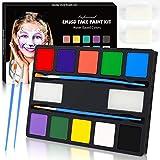 ENJSD Face Paint Kit, 14 PCS Face Paint set for Kids, 10 Professional Water Based Vivid Colors,...