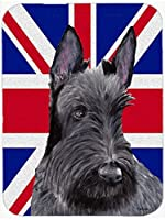 Caroline's Treasures SC9843MP Scottish Terrier with English Union Jack British Flag Mouse Pad, Hot Pad or Trivet, Large, Multicolor [並行輸入品]
