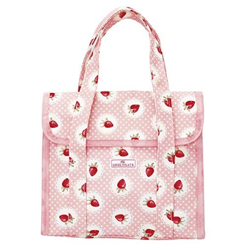 GreenGate Lunchbag small Strawberry Pale pink