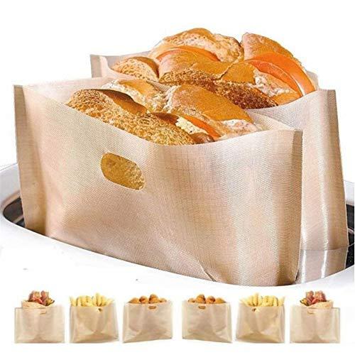 AleXanDer1 Toastbeutel Brottasche Mit Fenstern Vermeiden Sie Öl Lieben Toast Back Tasche Lebensmittel Hand Made Paket Beutel Zum Mitnehmen Non-Stick Backen Toastbrot Taschen 10PC (Color : Style 3)