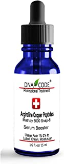 DNA Code-No Needle Alternative-Argireline Copper Peptide Wrinkle Reduce Serum Booster w/Snap-8, Matrixyl 3000