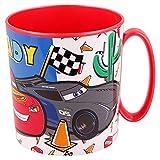CARS | Taza para niños y niñas con diseño de personajes - 350 ml | Taza infantil de plástico para microondas - Libre de BPA