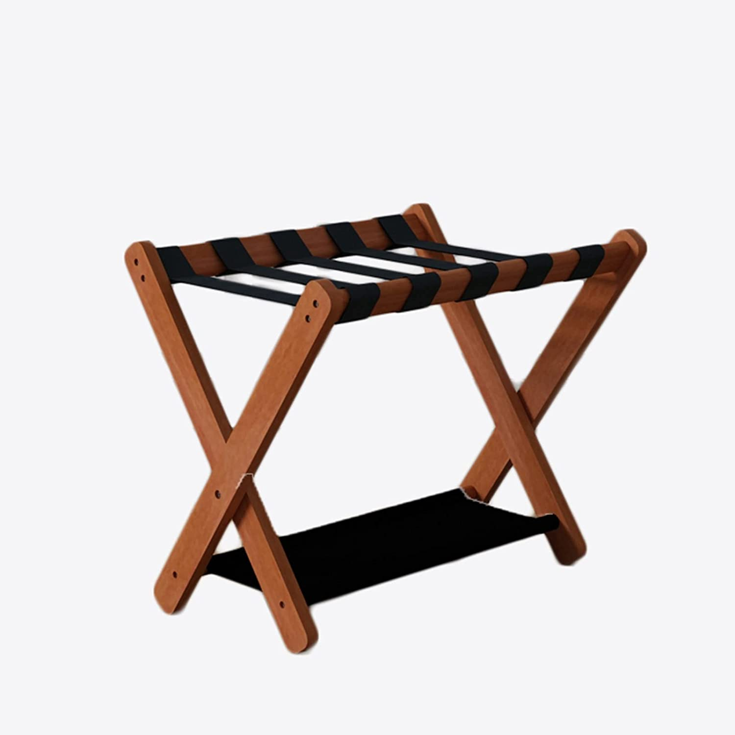 X-Shaped Purchase Luggage Rack Floor-to-Ceiling Double-Layer free shipping Wood Solid
