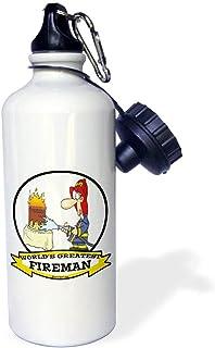 qidushop - Botella de Agua de Acero Inoxidable con Aislante para Bomberos Blancos y Dibujos Animados