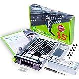 WORKDONE Vassoio Caddy da 3,5 Pollici per Disco Rigido, per Server dell PowerEdge - con Adattatore HDD da 2,5 Pollici Staffa NVMe SSD SAS SATA - Manuale di Installazione Dettagliato