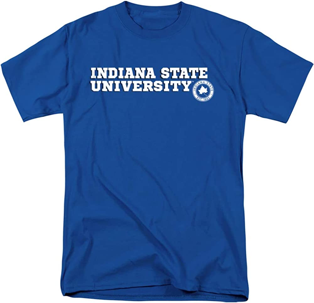 Indiana State University Official Block Text Unisex Adult T Shir