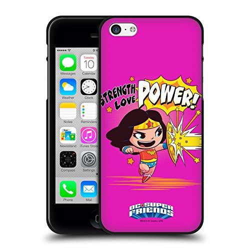 Head Case Designs Ufficiale Super Friends DC Comics Wonder Woman Bambini Arte Composta Cover Nera in Morbido Gel Compatibile con Apple iPhone 5 / iPhone 5s / iPhone SE 2016
