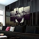 KOPASD 4 Piezas Lienzo Grandes murales 4 Partes Impresión Artística Imagen Despegue de Drones Moderno Sala Decorativos para el hogar-Sin Marco-120 * 80cm