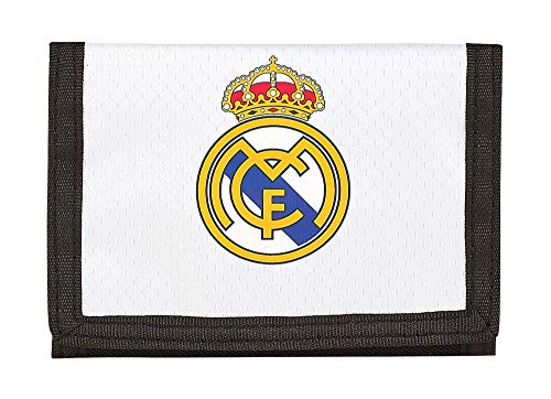 Real Madrid, 12 cm, Blanco 811854036 2018 Tarjetero, Niños unisex