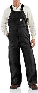 Carhartt Men's FR Duck Bib Lined Overall, Black, 38W X 28L