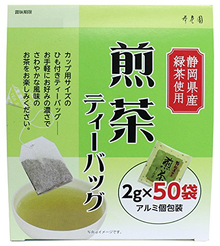 『寿老園 静岡県産緑茶使用 煎茶ティーバッグ 100g(2g×50袋)』のトップ画像