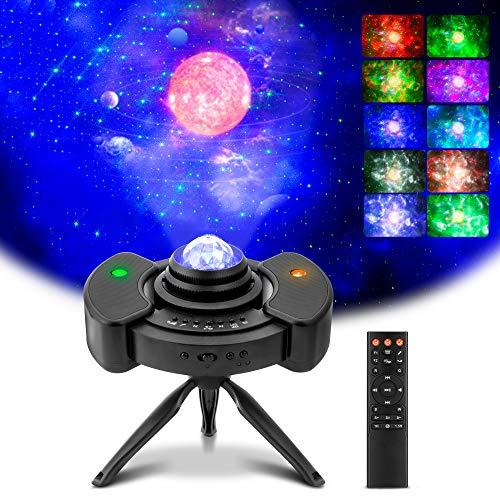 Sternenlicht Projektor,TekHome Sternenhimmel Projektor Erwachsene,Galaxie Projektor mit Fernbedienung und Eingebautem Bluetooth Musikplayer,Licht Projektor Lampe für Kinder,Frauen,Männer Hausparty.
