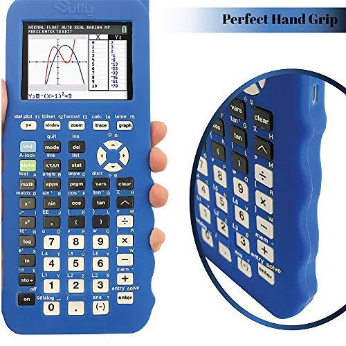 Silicone Case for Ti 84 Plus CE Calculator (Blue) - Cover for Texas Instruments Ti-84 Graphing Calculator - Silicon Skin for Ti84 Plus - Protective & Anti-Scretch Cases - Ti 84 Accessories by Sully Photo #7