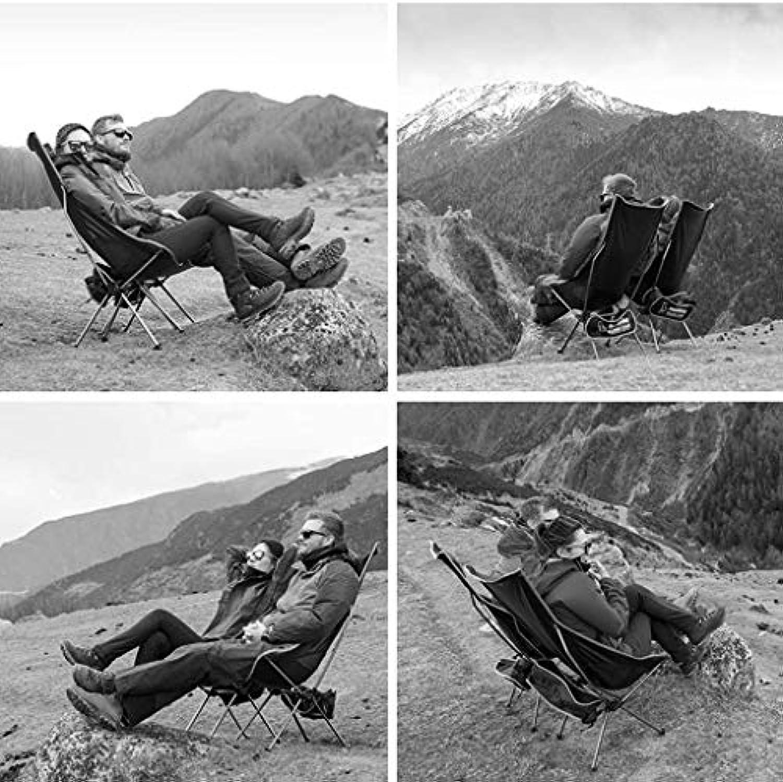 GCCI Klappstuhl Demontage Stuhl Outdoor Ultra Light Portable mit Rückenlehne Stuhl Camping Strand Stuhl Angeln Stuhl,Silber,