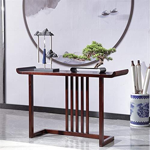 ZzheHou Konsolensofatische Moderne minimalistische Wohnzimmerstudie Seitenansicht Tisch Massivholz Eingangshalle Eingangstabelle (Farbe : Braun, Size : 120x36x78cm)
