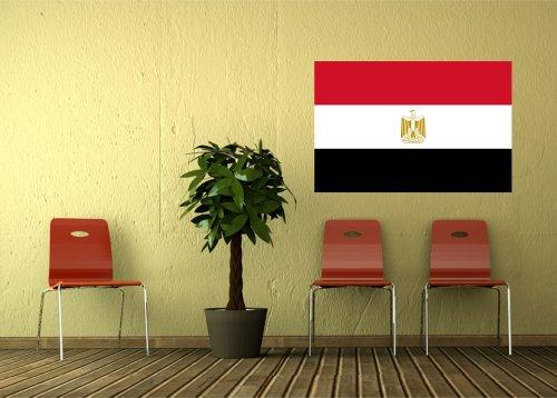Kiwistar Wandtattoo Sticker Fahne Flagge Aufkleber Ägypten 80 x 53cm