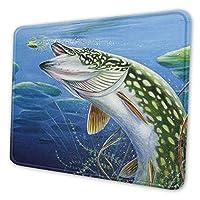 魚 マウスパッド 20 X 24cm 滑り止め 防水 おしゃれ 洗える ビジネス用 家庭用 ゲーム用