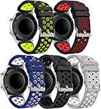 Gransho Correa de Reloj Compatible con Amazfit GTR 47mm / GTR 2 / Pace/Stratos 3 / Stratos 2S / GTR 2e, Impermeable Reemplazo Correas Reloj Silicona Banda (22mm, 5-Pack J)