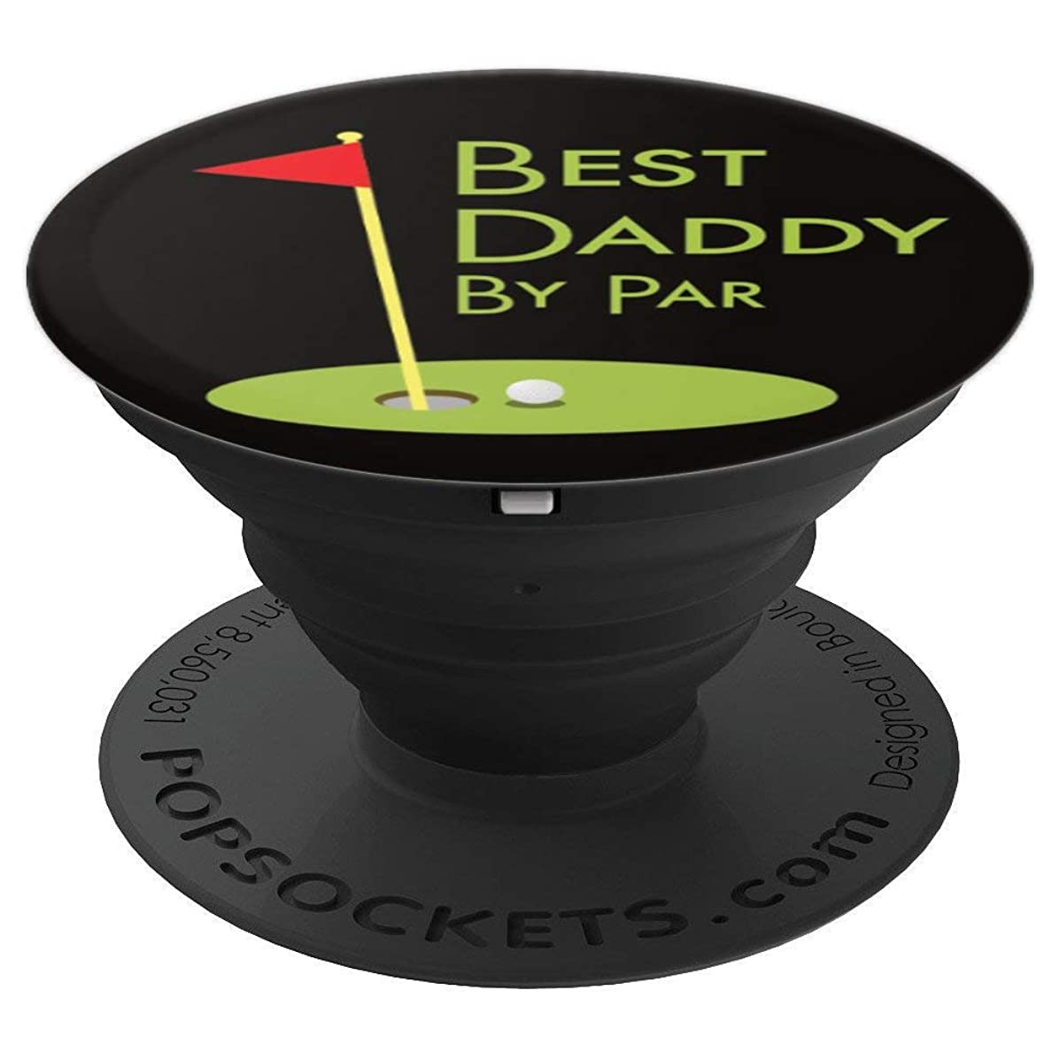 Fathers Day Golf Themed Gift For Men - Best Daddy By Par - PopSockets Grip and Stand for Phones and Tablets
