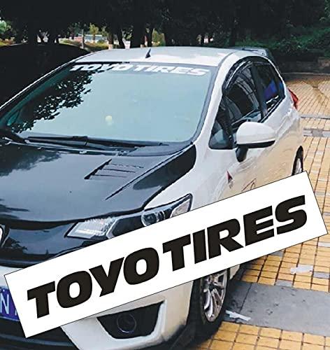 1Pcs for Toyo Tires Windshield Banner CAR Sticker Race Vinyl Fashion Car Styling Decorative car Body Decal (Bule)