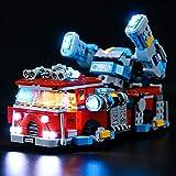 FYHCY Ensemble d'éclairage à LED pour Camion de Pompiers fantôme Lego 70436, Kit d'éclairage à LED Compatible avec Lego 70436 (Uniquement Ensemble d'éclairage)