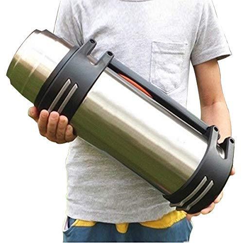 Thermos Giant Flask da viaggio da 3 litri 3000ml PER BEVANDE CALDE E FREDDE Isolamento termico sottovuoto in acciaio inossidabile di grande capacità per uso domestico all'aperto (Argento, 3L)