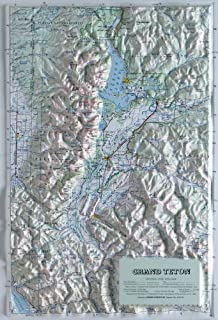 American Educational Products Raised Relief Map 406 Grand Teton National Park