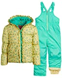 Wippette Girls Heavyweight Insulated Ski Jacket and Snow Bib Snowsuit Set, Size 12 Months, Yellow