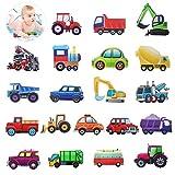 HANGNUO Antirutsch Aufkleber für Dusche Badewannen, Badewannenaufkleber, Badausstattung Dekoartikel Sticker, Fahrzeug Traktor Autos Lastwagen Bagger Abziehbild für Kinder, selbstklebend (20 Stück)