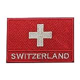 Parche bordado con la bandera de Suiza para coser o planchar, para ropa, etc.