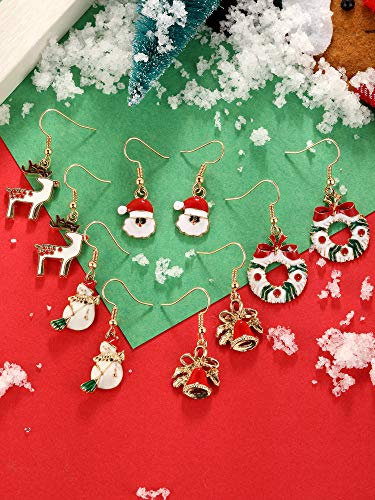 12 Paires Boucles d'Oreilles Pendantes de Goutte de Noël Ensemble de Boucles d'Oreilles de Bijoux de Noël pour Femmes… 6 Bijoutier Boutique Thème de Noël: notre ensemble de boucles d'oreilles a diverses formes, y compris bonhomme de neige, flocons de neige, boîte de cadeau, forme de clochettes, arbres de Noël, etc. articles de Noël classiques, l'air si mignon et adorable, correspond au thème de Noël, créant une bonne atmosphère de festival Matériau durable: ces boucles d'oreilles de Noël sont faites de métal avec une surface brillante et lisse, difficile à décomposer et vous pouvez l'utiliser longtemps avec un bon rangement Accessoire délicat: différents modèles de boucles d'oreilles sont plus faciles à assortir avec différents vêtements, adaptés à Noël, aux cérémonies, aux accessoires photo, assistez à une variété de parités, également très agréables pour un usage quotidien, aident à compléter votre accessoire de costume