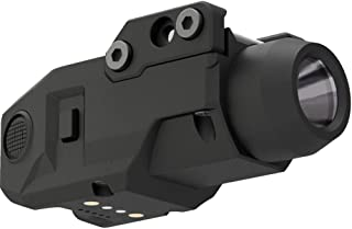 Laspur Sub Compact Tactical Rail Mount LED High Lumen Flashlight Light with Strobe for Pistol Handgun, Built-in USB Magnet...