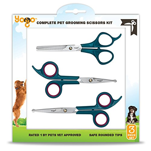 Yogo Pet Grooming Scissors Kit Professionally and Easily Groom Your Dogs, Cats and Pets with...