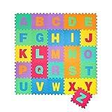 Puzzle Goma EVA de 26 Piezas | Alfombra Infantil Puzzle de Letras | Alfombra puzle (26 Piezas) | Alfombra Goma para bebé | Alfombra bebé | Alfombra Puzzle de Letras (Letras)