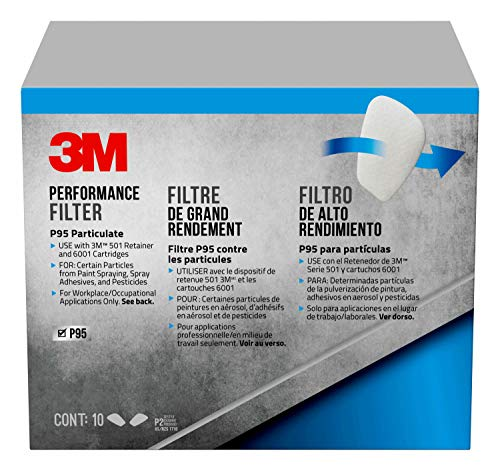 3M 5P71PB1 6000 Series Particulate Filter P95, 10-Pack