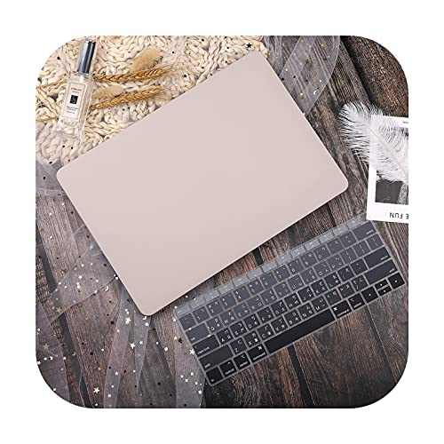 Laptop Case For Pro Retina 11 12 13 15Pro 13.3 Touch Bar 2020 A2338 A2337 M1 A2159 A2338 Keyboard Cover-Khaki-Model A1278