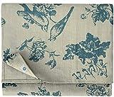 Linen & Cotton Mantel de Mesa de Madera Decoración de la Mesa Flores Diseño Floral - 100% Lino,...