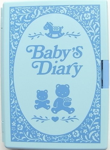 育児用スタンプを使って楽しく付けられるベビーズダイアリー (ブルー)