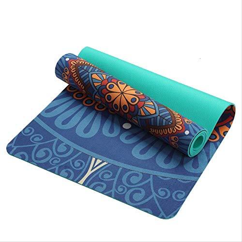 No Tappetino da Yoga Professionale Antiscivolo Dimagrante Esercizio Fitness Ginnastica Body Building Esterilla Pilates Modello Lotus 6 Mm Blu