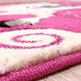 Kinderzimmer Teppich für Kinder Das Kleine Einhorn Pink Creme Türkis, Grösse:80x150 cm - 3