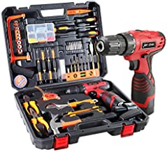 Power Tool Combo Kits, 108 Piece Tool Set with Drill & Home Tool Kit Repair Set Toolbox Portable Electric Tools 16.8V Cordless Drill Gift Set for Home Office Outdoor Maintain